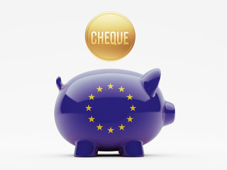 European Union Cheque Concept