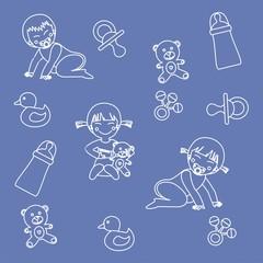 papel regalo niños azul infantil