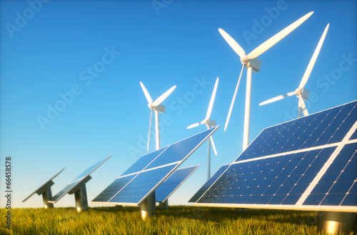 Tuinposter Openbaar geb. Sustainable energy concept