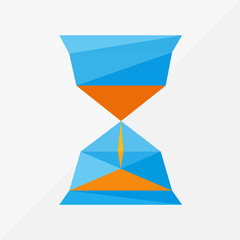 sand hourglass isolated by triangles, polygon