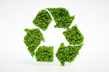 Nature recycling symbol
