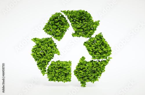 Nature recycling symbol