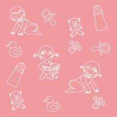 papel regalo niños rosa