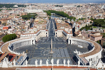 View on St. Peter's square at the Vatican