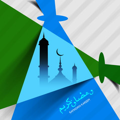 Illustration Islamic mosque ramadan kareem creative background v