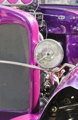 high performance colorful hotrod vehicle closeup