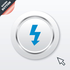 Photo flash sign icon. Lightning symbol.