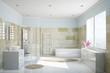 Bad mit Fliesen aus Terrakotta