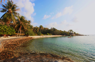 The island Phangan in Thailand