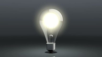 glühbirne leuchtet auf und geht aus