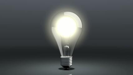glühbirne flackert und erlischt