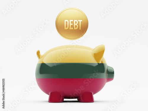 Lithuania Debt Concept
