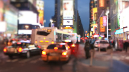 Times Square Time Lapse Tilt Shift