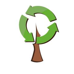 Eco tree, vector