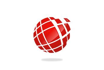 globe sphere technology vector