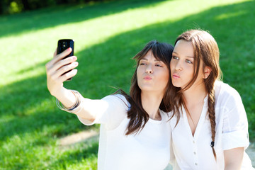 Taking selfie