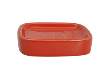 Red Ceramic Bathroom accessory