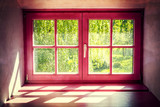 vintage violet window