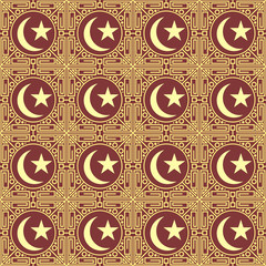 Golden islamic seamless pattern