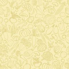 野菜 マルシェ ベージュの壁紙