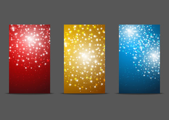 Set of 240 x 400 banners with fireworks