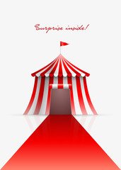 Circus tent and red carpet