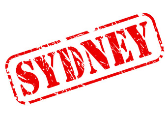SYDNEY red stamp text