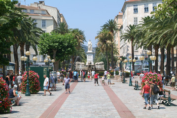 Foch square at Ajaccio on the island of Corsica