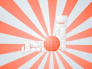 日本地図 旭日旗