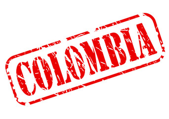 Colombia red stamp text