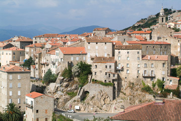 The village of Sartene on Corsica island
