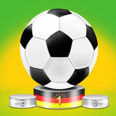 Fußball auf Siegerpodest