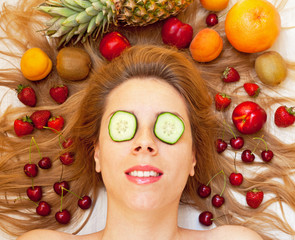 Spa treatment with different fruit
