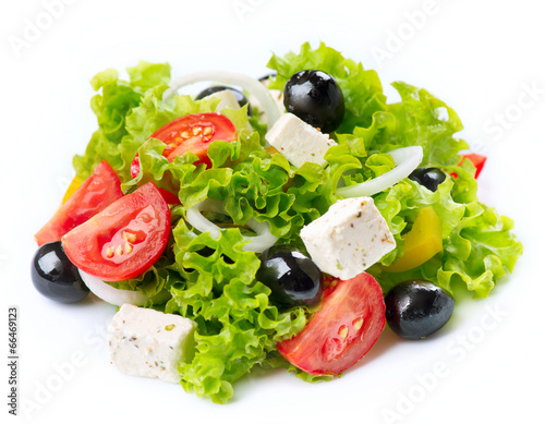 Aluminium Salade Greek Salad isolated on a White Background