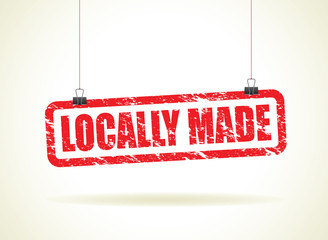 locally hanging sign