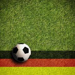 Fußball mit Deutschlandflagge in 1:1 Format