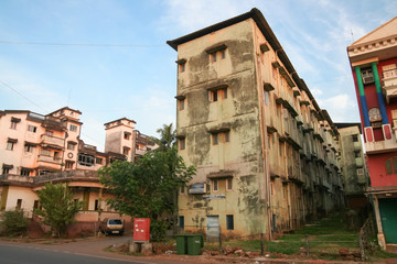 Indian street and buildings