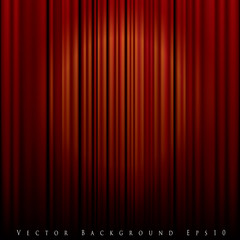 spot on curtain red