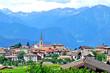 Beautiful village in Trentino, Italy