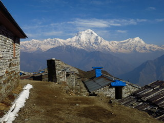 Dhaulagiri and Tukuche Peak, view from Khopra Danda