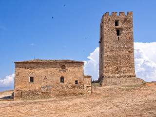 Byzantine  Church and tower to the Apostle Paul