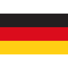 Flag of Germany. Flagge Deutschland. Drapeau de l'Allemagne.
