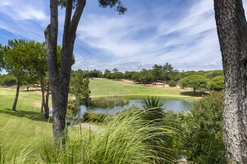 A beautiful golf course at Vilamoura