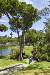 Golf field summer landscape, Vilamoura