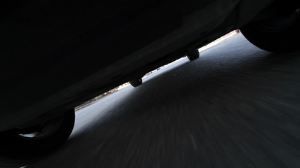 Under Car Driving Time Lapse