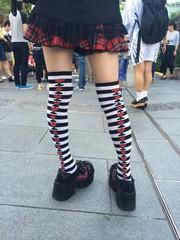コスプレした女の子の足