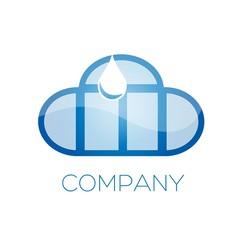 логотип мойка окон и облако