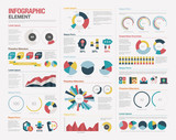 Big set of infographics elements poster