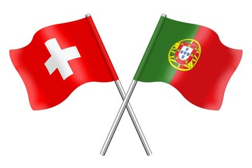 Flags: Switzerland and Portugal