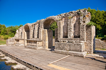 Remains of the ancient Baptistery at Butrint, Albania.